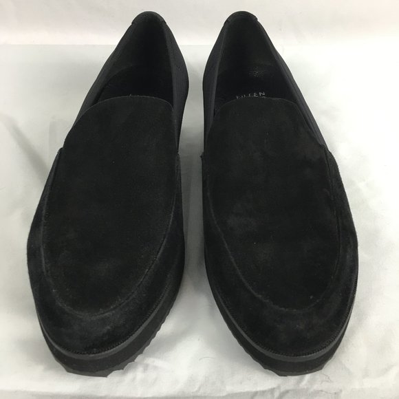 Eileen Fisher Size 9.5 Dell Slip On Black Suede